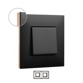 Marco 2 elementos  Legrand 741072 serie Valena Next color dark cobre