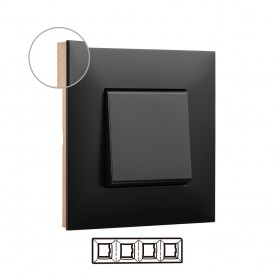Marco 4 elementos  Legrand 741074 serie Valena Next color Dark cobre