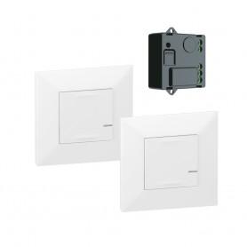 Pack preconfigurados encendido conmutado con Micromodulo Netatmo Legrand 741820 serie Valena Next with Netatmo color Blanco