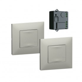 Pack preconfigurados encendido conmutado con Micromodulo Netatmo Legrand 741850 serie Valena Next with Netatmo color Aluminio