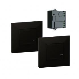 Pack preconfigurados encendido conmutado con Micromodulo Netatmo Legrand 741880 serie Valena Next with Netatmo color Dark