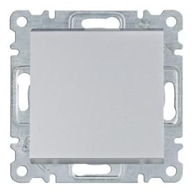 Interruptor Hager Lumina Intense WL0012 color Plata