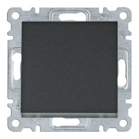 Conmutador cruzamiento Hager Lumina Intense WL0033 color Negro