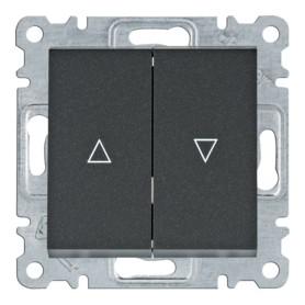 Pulsador para persiana Hager Lumina Intense WL0323 color Negro