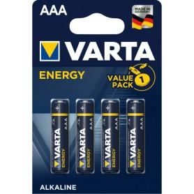 Pila alcalina LR03 AAA Varta Blister 4 pilas Energy