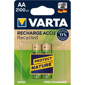 Pila recargable LR06 AA 2100mAh Varta Blister 2 pilas Recycled