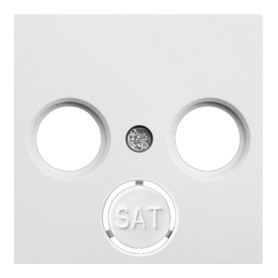 Tapa para toma TV-SAT Hager Lumina Intense WL6320 color Blanco
