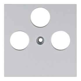 Tapa para toma TV-SAT Hager Lumina Intense WL6322 color Plata