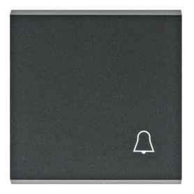 Tecla con simbolo campana Hager Lumina Intense WL6013 color Negro
