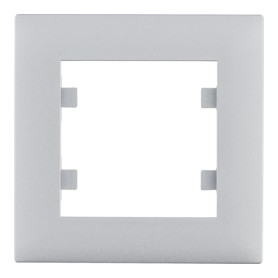 Marco 1 elemento Hager Lumina Intense WL5512 color Plata