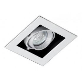 Empotrable cuadrado orientable de techo Faro Barcelona Falcon-1 03020401 Blanco