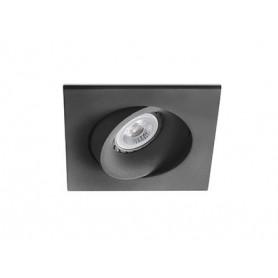 Empotrable cuadrado orientable de techo Faro Barcelona ARGON 43412 Negro
