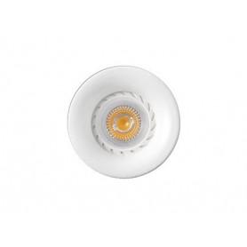 Empotrable redondo de techo Faro Barcelona NEON 43399 blanco