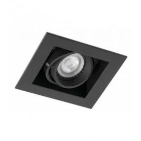 Empotrable cuadrado orientable de techo Faro Barcelona Falcon-1 03020402 Negro