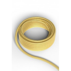 Cable decorativo textil  CALEX 940222 2x0.75mm2 1.5MT Oro metalizado