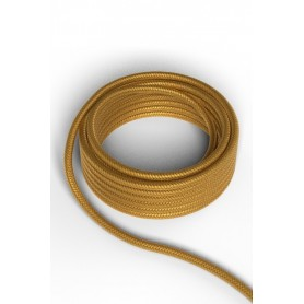 Cable decorativo textil  CALEX 940216 2x0.75mm2 1.5MT Oro