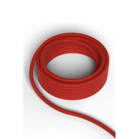 Cable decorativo textil  CALEX 940232 2x0.75mm2 1.5MT Rojo