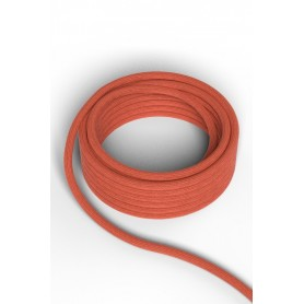 Cable decorativo textil  CALEX 940228 2x0.75mm2 1.5MT Naranja