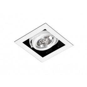 Empotrable cuadrado orientable de techo Faro BarcelonaGINGKO-1 03030101 Blanco