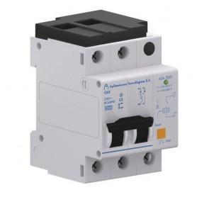 Interruptor automatico +Limitador sobretensiones permanentes y transitorias Aplicaciones Tecnologicas AT-9072 2 Polos 32A