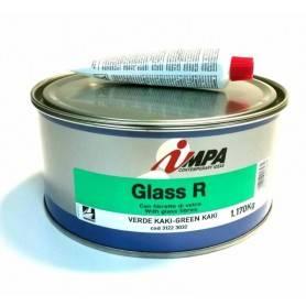 Masilla Poliéster reforzada con fibra de vidrio Impa GLASS R 1,2 Kg Miarco 1232
