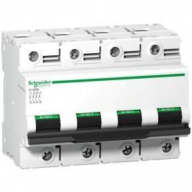 Interruptor Automatico C120N 4P 63A Schneider Curva C A9N18371