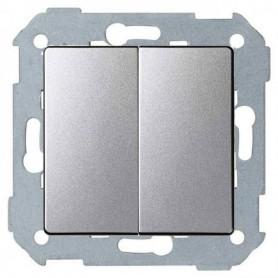 Conjunto semi-montado de conmutador doble+tecla 8200397-093 Aluminio Simon 82 Concept