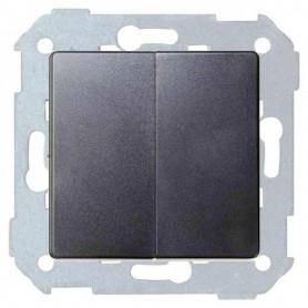 Conjunto semi-montado de conmutador doble+tecla 8200397-096 TitanioSimon 82 Concept