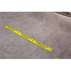 Cinta señalizacion Mantenga distancia de seguridad  Miarco 30411 72mmx66mt